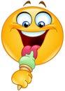 Emoticon with ice cream