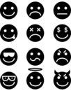 Emoticon Icon Set Stock Photos