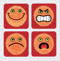 Emoticon Icons - Faces expression Royalty Free Stock Photography