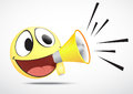 Emoticon with Loudspeaker Royalty Free Stock Photo