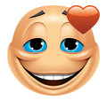 Emoticon in love Stock Photos