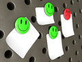 Emoticon magnets and Notes Royalty Free Stock Photos