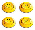 Emoticon push button Royalty Free Stock Image