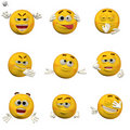 Emoticon set Royalty Free Stock Photography