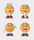 Emoticon Set Stock Images