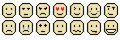 Emoticon Sheet Royalty Free Stock Photo
