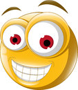 Emoticon smile for you design illustration of Stock Image