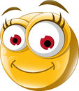 Emoticon smile for you design illustration of Royalty Free Stock Photography