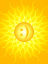 Emoticon sun Royalty Free Stock Photo