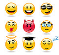 Emoticons character icons Stock Photo