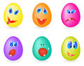 Emoticons on the eggs Stock Image