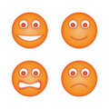 Emoticons set Stock Image
