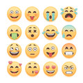 Emoticons set, emoji set, smiley collection. Emoticons pack for chat and web app design elements