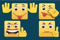 Emoticons set os square Royalty Free Stock Images