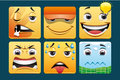 Emoticons set of square template Stock Photography