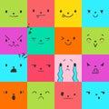 Emoticons Square Doodle 4