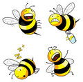 Emotion bee comic character Stock Photo