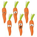 Emotion cartoon carrot vegetables set Royalty Free Stock Photo