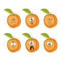 Emotion cartoon peach set Royalty Free Stock Photos
