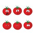 Emotion cartoon red tomato vegetables set Royalty Free Stock Photography