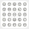 Emotion face icons set Stock Photography