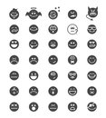 Emotion face icons vector sighs isolated on white Royalty Free Stock Image