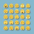 Emotion face vector icon set cartoon Stock Photography