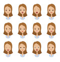 Emotion faces of girls Royalty Free Stock Photo