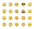 Emotion icons set of related Royalty Free Stock Photos