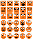 Emotion icons - vector Stock Images