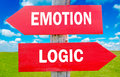 Emotion and logic Royalty Free Stock Photo