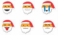 Emotion of santa this is describe about clause Royalty Free Stock Photo