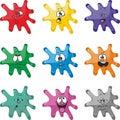 Emotion smiles cartoon blot multicolor set 005