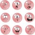 Emotion smiles pink color set 005