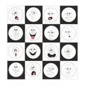 Emotion smiles set in box 002