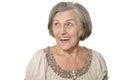 Emotional elderly woman