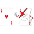 Emotional playing card set Royalty Free Stock Image
