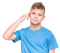 Emotional portrait of teen boy Royalty Free Stock Photo