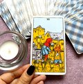 6 Six of Cups Tarot Card Emotional Security Being Cared for Giving and Receiving Openness Sharing Goodwill Kindness Charity Gi Royalty Free Stock Photo