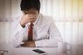 Emotional Stress, Bankruptcy, Finance Royalty Free Stock Photo