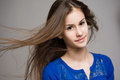 Emotional young brunette teen girl. Royalty Free Stock Photos