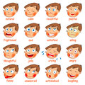 Emotions. Cartoon facial expressions Royalty Free Stock Photo