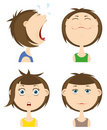 Emotions icon set. Royalty Free Stock Photo
