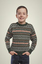 Emotions. Young boy portrait. Smiling boy looking at camera. Royalty Free Stock Photo