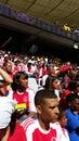 Emparejamiento de fútbol Fotografía de archivo libre de regalías