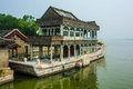 The emperors barge at summer palace beijing china Stock Images
