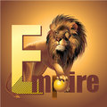 Empire lion king of beasts vector power Royalty Free Stock Photo