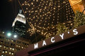Empire State Building and Macy's store. Royalty Free Stock Images