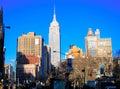 Empire state building manhattan new york city the story skyscraper Royalty Free Stock Photos