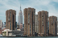 Empire State building and Manhattan view from Hudson river, New Royalty Free Stock Photo